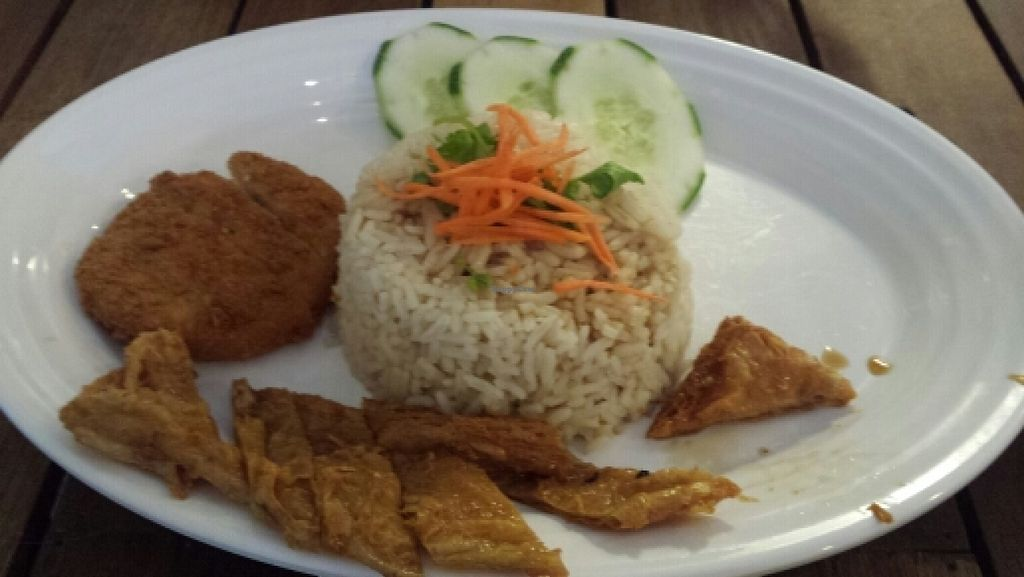 """Photo of Xiang Yun Vegetarian - Bayan Point  by <a href=""""/members/profile/Kiwee"""">Kiwee</a> <br/>Hainan Chicken Rice (5.90RM) <br/> January 22, 2016  - <a href='/contact/abuse/image/53904/133257'>Report</a>"""