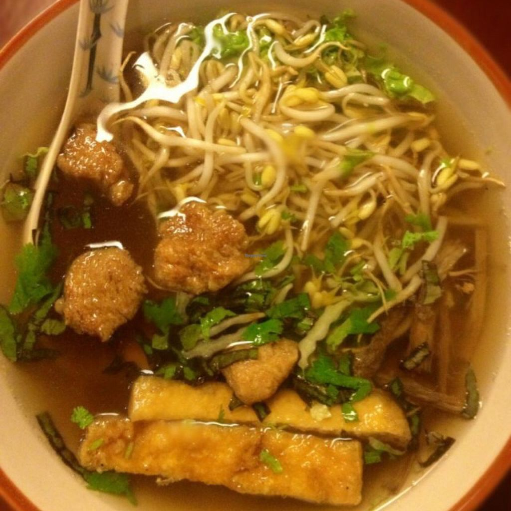 """Photo of Wabi-Sabi Noodle House and Vegetarian Grocery - Tomas Morato  by <a href=""""/members/profile/Teruru"""">Teruru</a> <br/>Vietnamese Pho <br/> August 12, 2015  - <a href='/contact/abuse/image/53914/113344'>Report</a>"""
