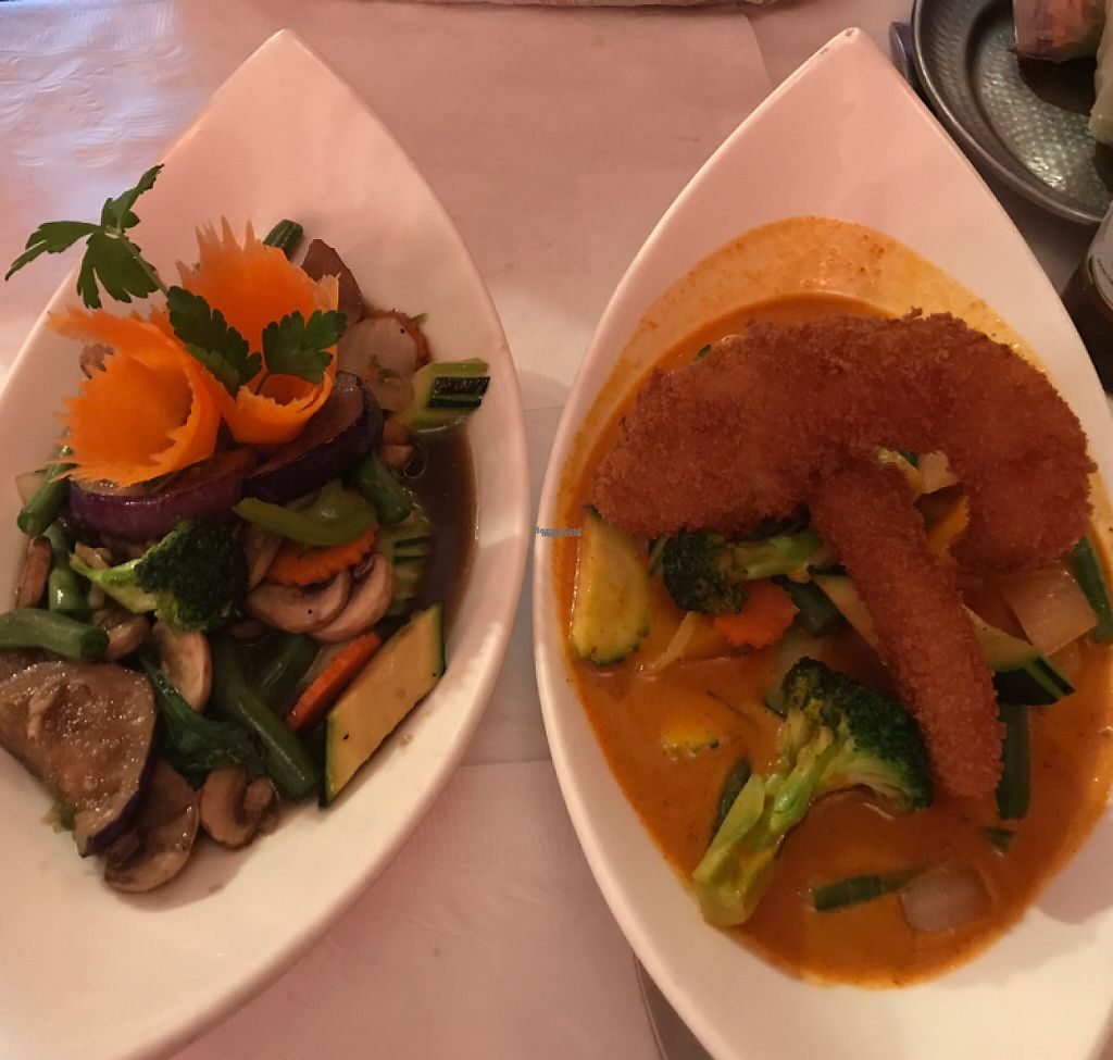 "Photo of Thai Time Asian Bistro  by <a href=""/members/profile/gogiants%21"">gogiants!</a> <br/>eggplant dish & pumpkin red curry <br/> April 22, 2017  - <a href='/contact/abuse/image/53948/250839'>Report</a>"