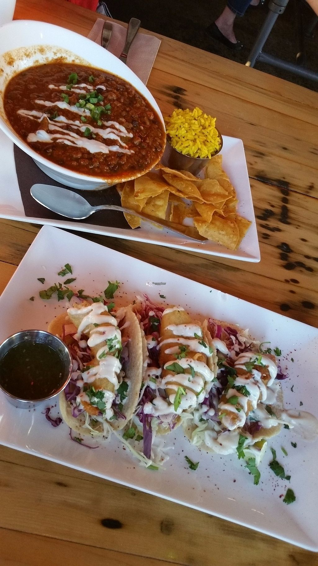 """Photo of Tucos Taco Lounge  by <a href=""""/members/profile/LPT"""">LPT</a> <br/>Chili & Phish Taco <br/> November 11, 2016  - <a href='/contact/abuse/image/53957/188738'>Report</a>"""