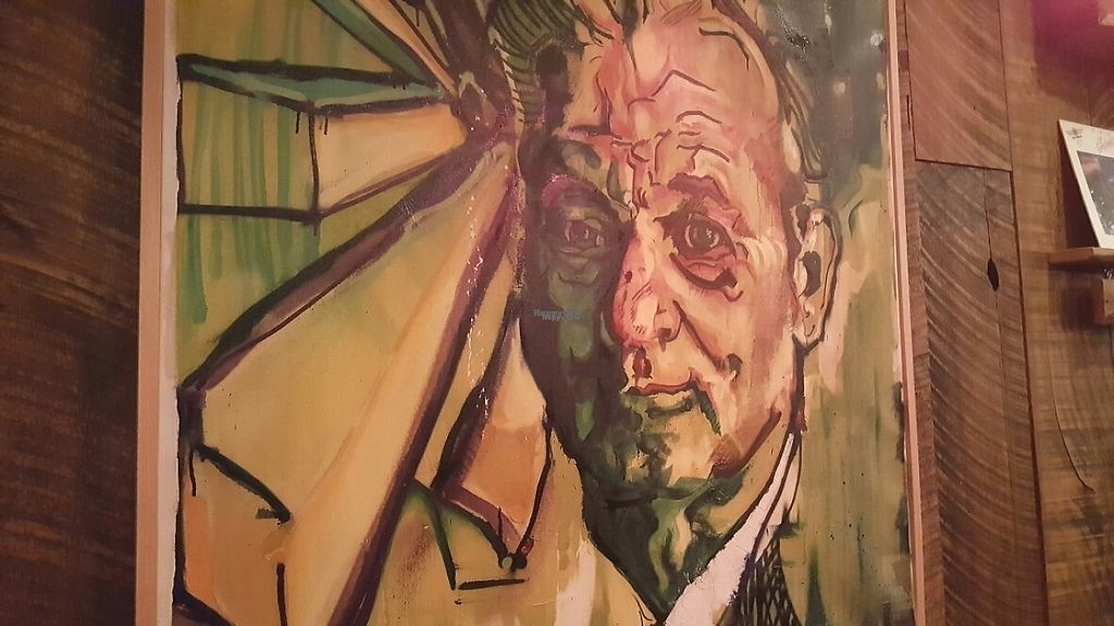 """Photo of Tucos Taco Lounge  by <a href=""""/members/profile/Armando"""">Armando</a> <br/>Bill Murray looks down from the wall in approval <br/> November 13, 2016  - <a href='/contact/abuse/image/53957/189451'>Report</a>"""