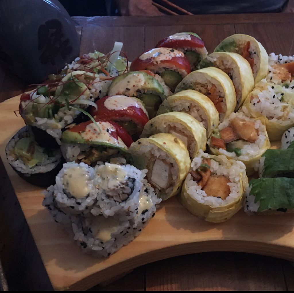 "Photo of Sushi Momo  by <a href=""/members/profile/Mishallison"">Mishallison</a> <br/>This wasn't even all the rolls (for three people) <br/> May 3, 2017  - <a href='/contact/abuse/image/53972/255153'>Report</a>"