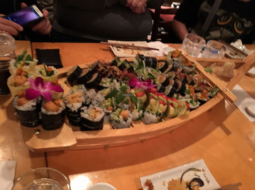 "Photo of Sushi Momo  by <a href=""/members/profile/ViQNut"">ViQNut</a> <br/>The boat of Amazing sushi! <br/> May 20, 2017  - <a href='/contact/abuse/image/53972/260569'>Report</a>"