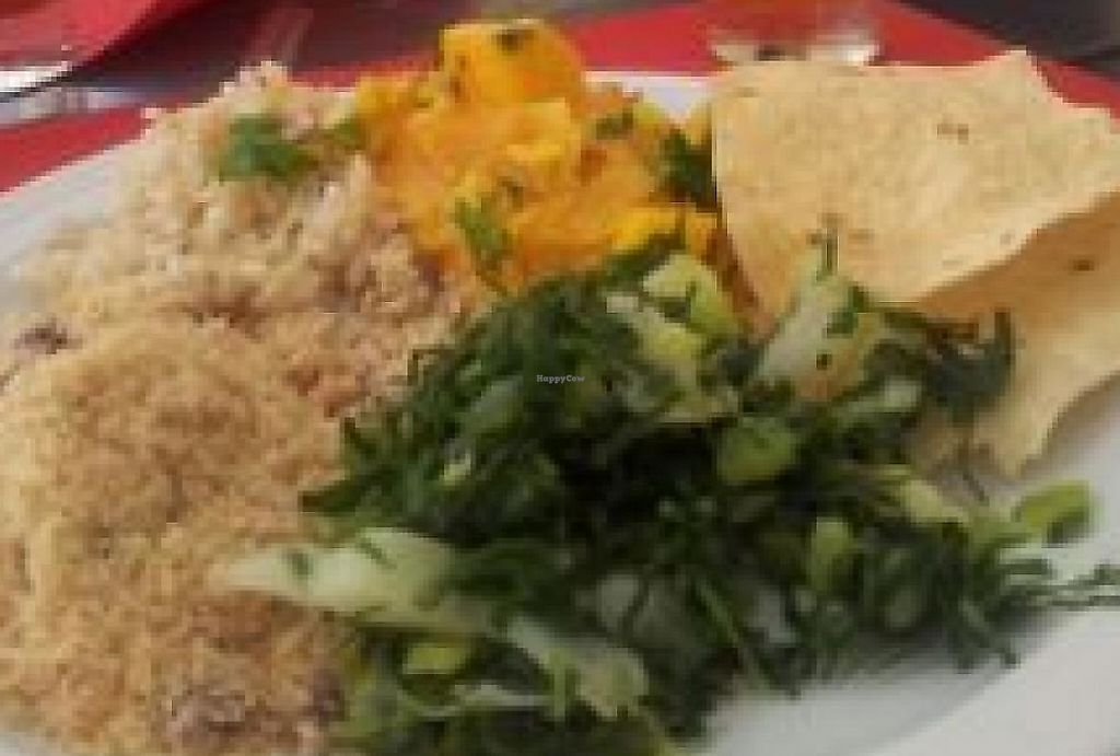 """Photo of Gengibre E Canela  by <a href=""""/members/profile/food4ricky"""">food4ricky</a> <br/>Indian menu with homemade lemonade <br/> June 23, 2014  - <a href='/contact/abuse/image/5397/240914'>Report</a>"""