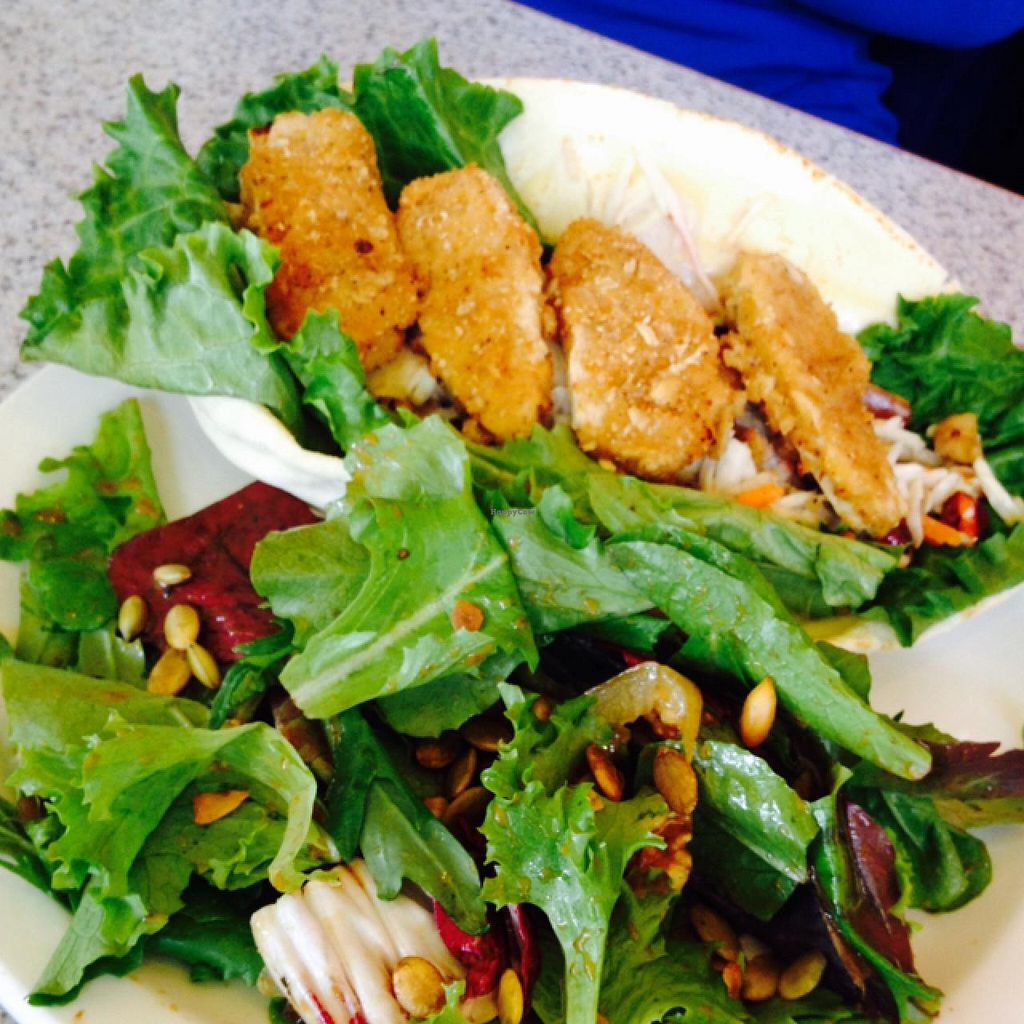 "Photo of Raven's Nest  by <a href=""/members/profile/Hayley143"">Hayley143</a> <br/>gardein 'chicken' wrap <br/> January 11, 2015  - <a href='/contact/abuse/image/54014/90144'>Report</a>"