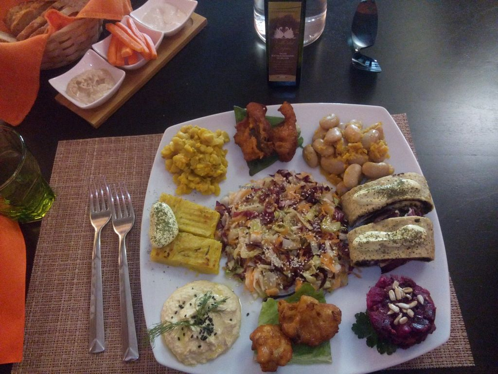 """Photo of Pecorallegra  by <a href=""""/members/profile/Toby%20Stockholm"""">Toby Stockholm</a> <br/>Vegan starter dish with a lot of variety <br/> December 13, 2015  - <a href='/contact/abuse/image/54017/128242'>Report</a>"""