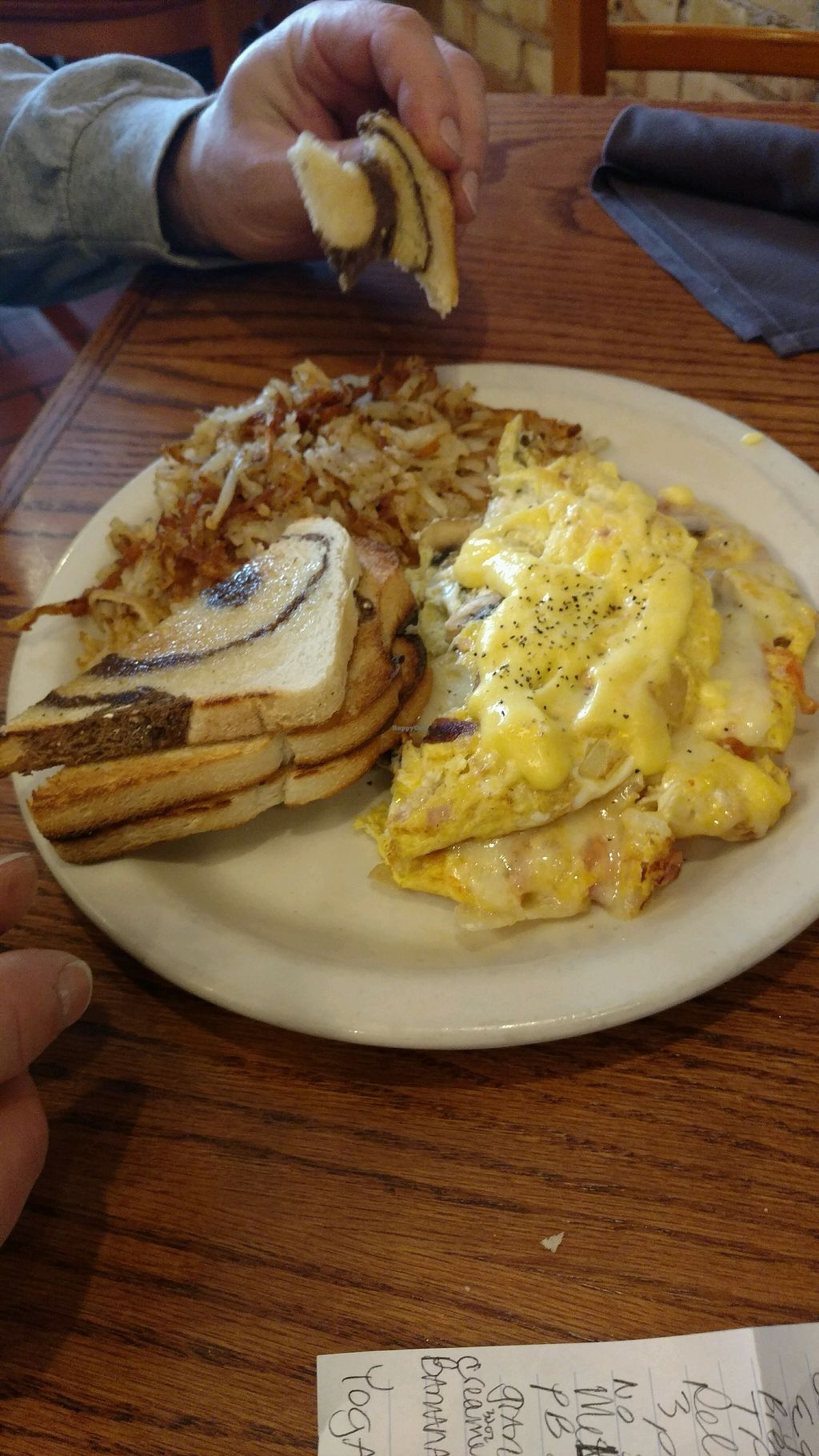 """Photo of Soup Spoon Cafe  by <a href=""""/members/profile/Queensnake88"""">Queensnake88</a> <br/>omelette and rye toast <br/> December 4, 2017  - <a href='/contact/abuse/image/54139/332323'>Report</a>"""