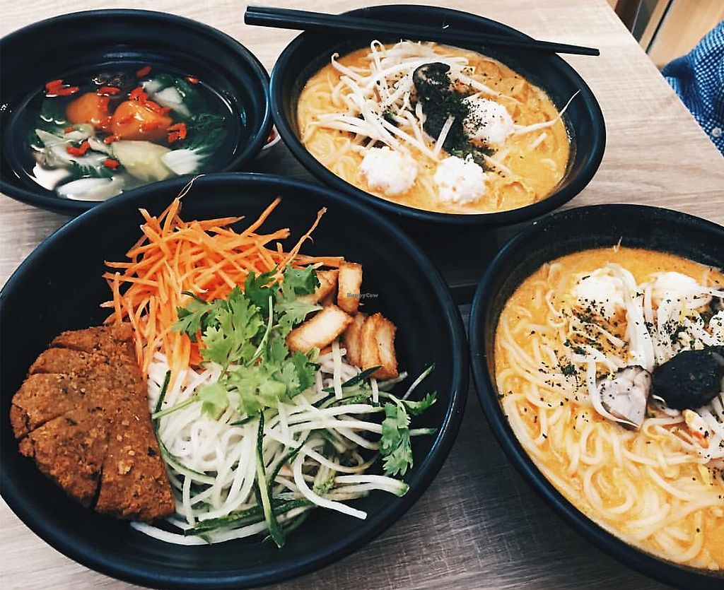 """Photo of Green Dot - Paya Lebar  by <a href=""""/members/profile/CherylQuincy"""">CherylQuincy</a> <br/>Laksa noodles and mushroom noodles  <br/> January 31, 2018  - <a href='/contact/abuse/image/54149/353044'>Report</a>"""