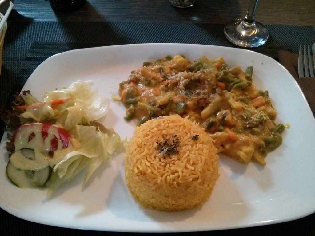 """Photo of Tara Indian Dhaba  by <a href=""""/members/profile/hadasalex"""">hadasalex</a> <br/>rice with vegetables and coconut creme <br/> October 17, 2015  - <a href='/contact/abuse/image/54153/121657'>Report</a>"""
