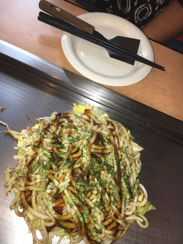 "Photo of Yakeppachi  by <a href=""/members/profile/VeganBec"">VeganBec</a> <br/>Vegan Udon Okonomiyaki <br/> April 4, 2018  - <a href='/contact/abuse/image/54177/380491'>Report</a>"
