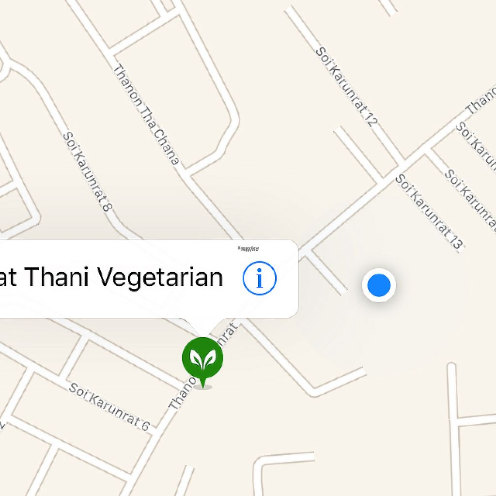 "Photo of SuratThani Vegetarian  by <a href=""/members/profile/ozzmond"">ozzmond</a> <br/>Actual location in the blue dot. (north up) <br/> January 9, 2017  - <a href='/contact/abuse/image/54180/209943'>Report</a>"