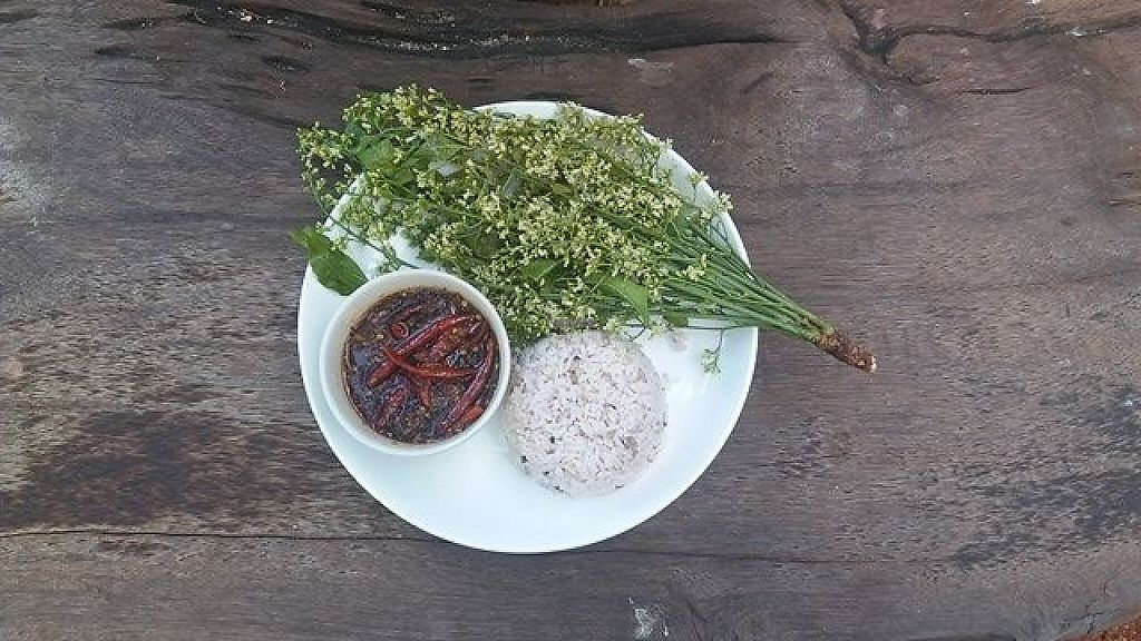 "Photo of SuratThani Vegetarian  by <a href=""/members/profile/DinNakkwan"">DinNakkwan</a> <br/>Eat rice with flower <br/> January 14, 2017  - <a href='/contact/abuse/image/54180/211816'>Report</a>"