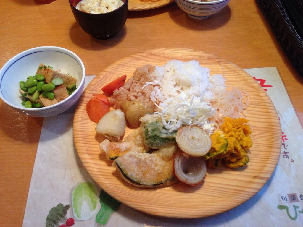 """Photo of Hinano  by <a href=""""/members/profile/ItalianChick"""">ItalianChick</a> <br/>Buffet dish at Hinano. Vegan food <br/> December 29, 2014  - <a href='/contact/abuse/image/54215/88993'>Report</a>"""