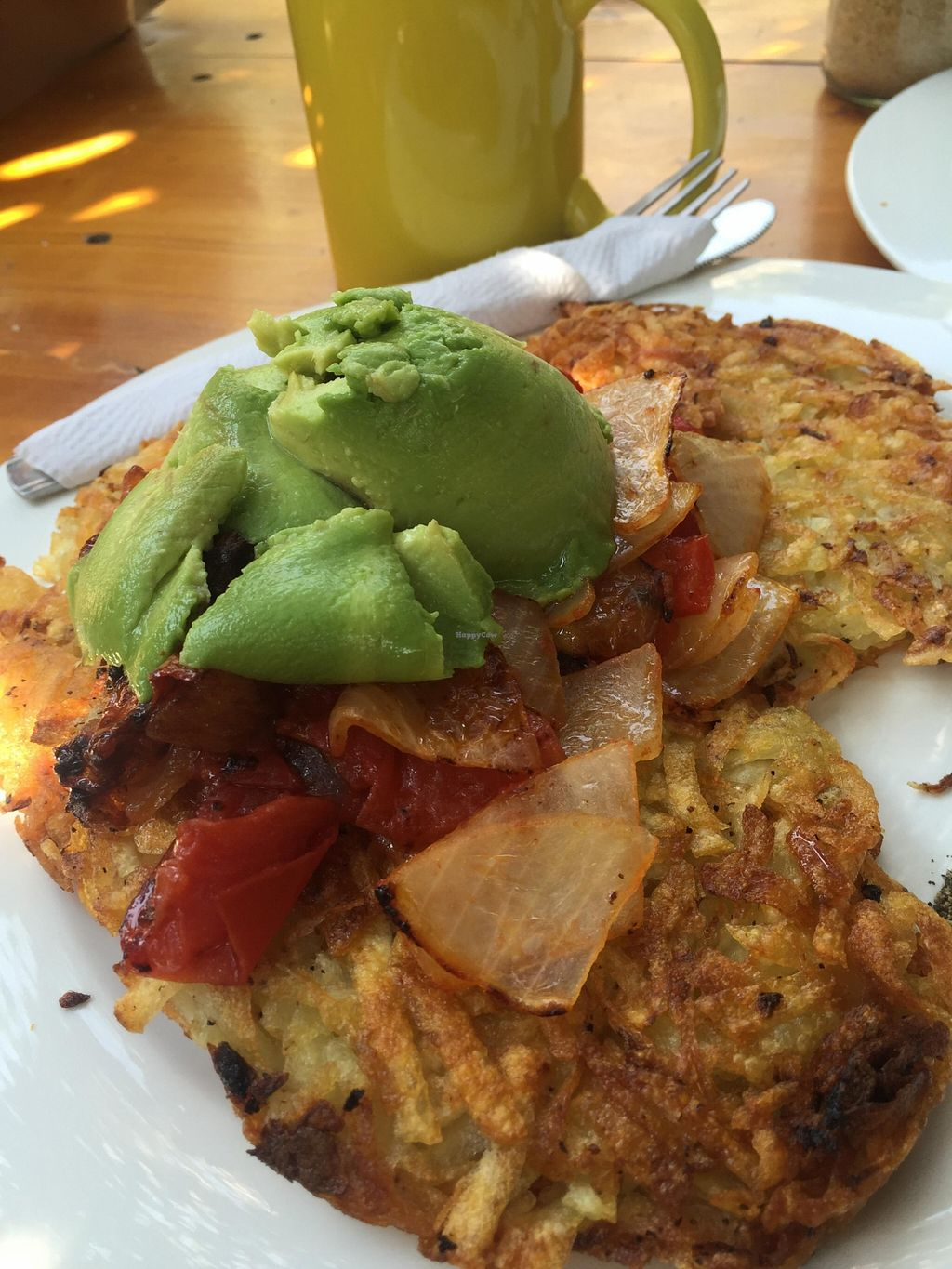 """Photo of Circles Cafe and Hostel  by <a href=""""/members/profile/Emily%20Horne"""">Emily Horne</a> <br/>Breakfast - Vegan Stack  <br/> April 3, 2016  - <a href='/contact/abuse/image/54261/142492'>Report</a>"""