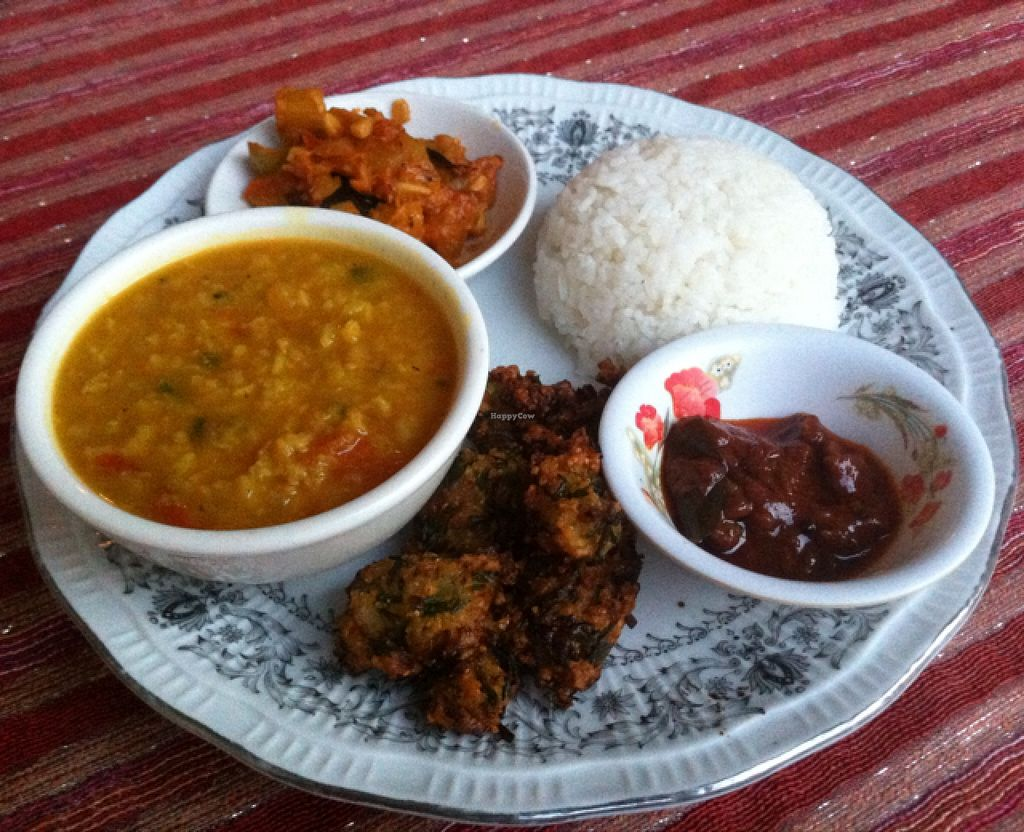 """Photo of Home Foods  by <a href=""""/members/profile/Arvid"""">Arvid</a> <br/>Extra value vegetarian combo ($4,50) <br/> January 25, 2016  - <a href='/contact/abuse/image/54274/133640'>Report</a>"""