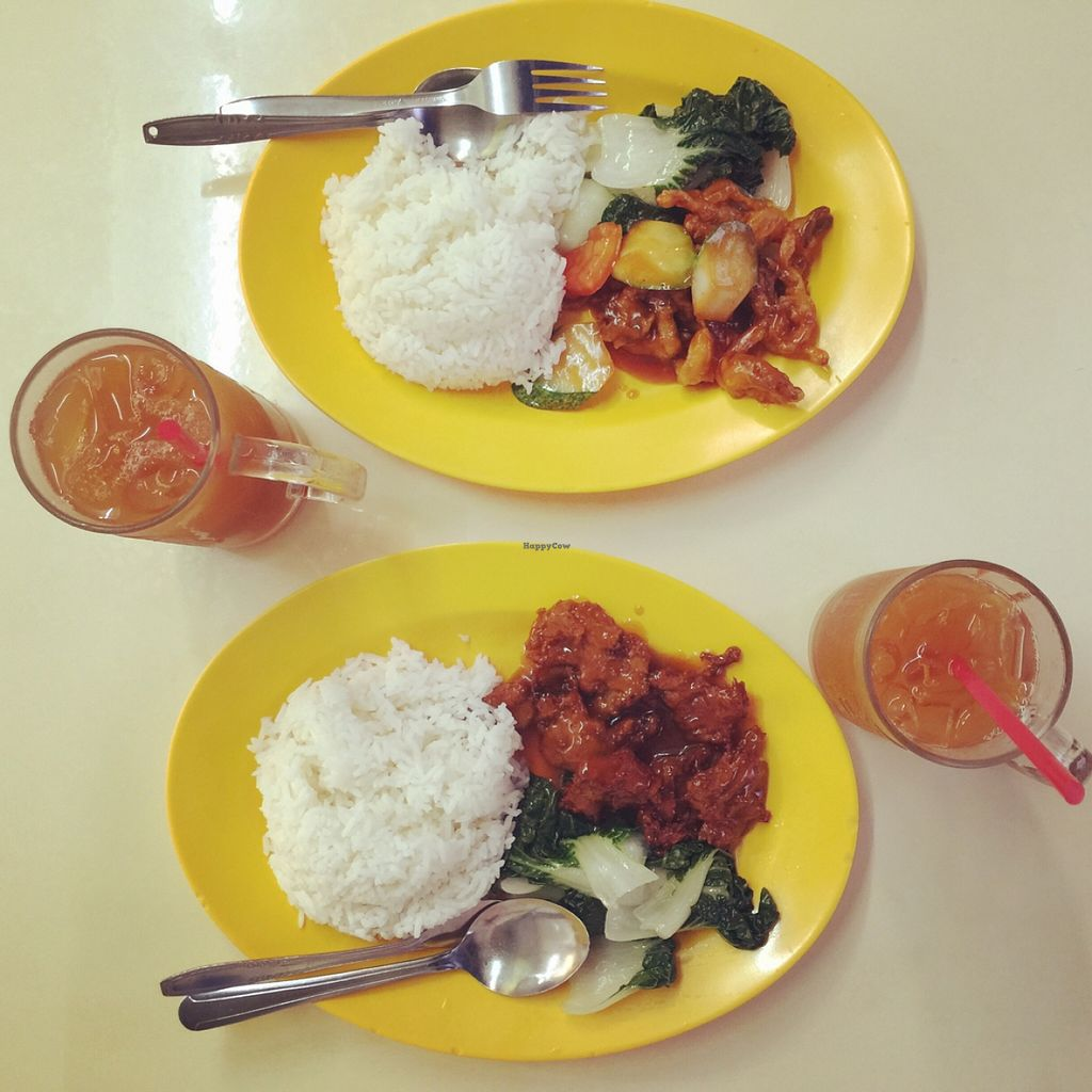 """Photo of CLOSED: Hong Hoo  by <a href=""""/members/profile/amandateng"""">amandateng</a> <br/>set meal. each $4. top is #6 (sweet sour mushroom) and bottom is #7 (cutlet). paired with less sweet ice lemon tea $1.30 <br/> May 23, 2016  - <a href='/contact/abuse/image/54280/150476'>Report</a>"""