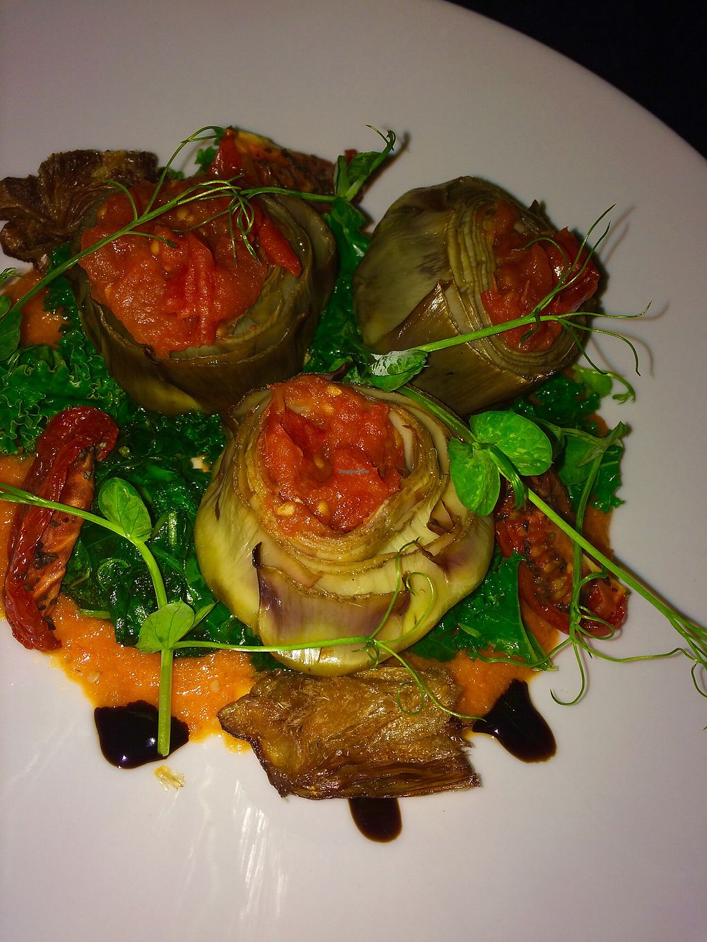 "Photo of Fallon and Byrne  by <a href=""/members/profile/CiaraSlevin"">CiaraSlevin</a> <br/>Roasted globe of artichoke with wilted greens, tomato pesto & pine nuts <br/> April 1, 2018  - <a href='/contact/abuse/image/54290/379505'>Report</a>"