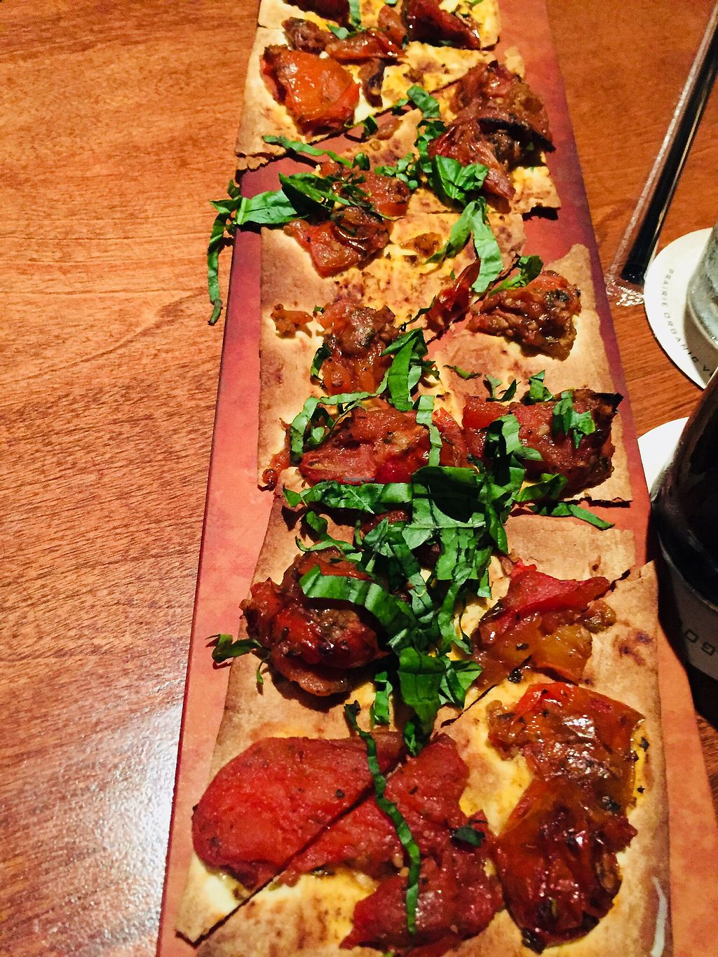 """Photo of Seasons 52  by <a href=""""/members/profile/plantbaseddfw"""">plantbaseddfw</a> <br/>Appetizer roasted Roma flatbread  <br/> February 16, 2018  - <a href='/contact/abuse/image/54291/359855'>Report</a>"""