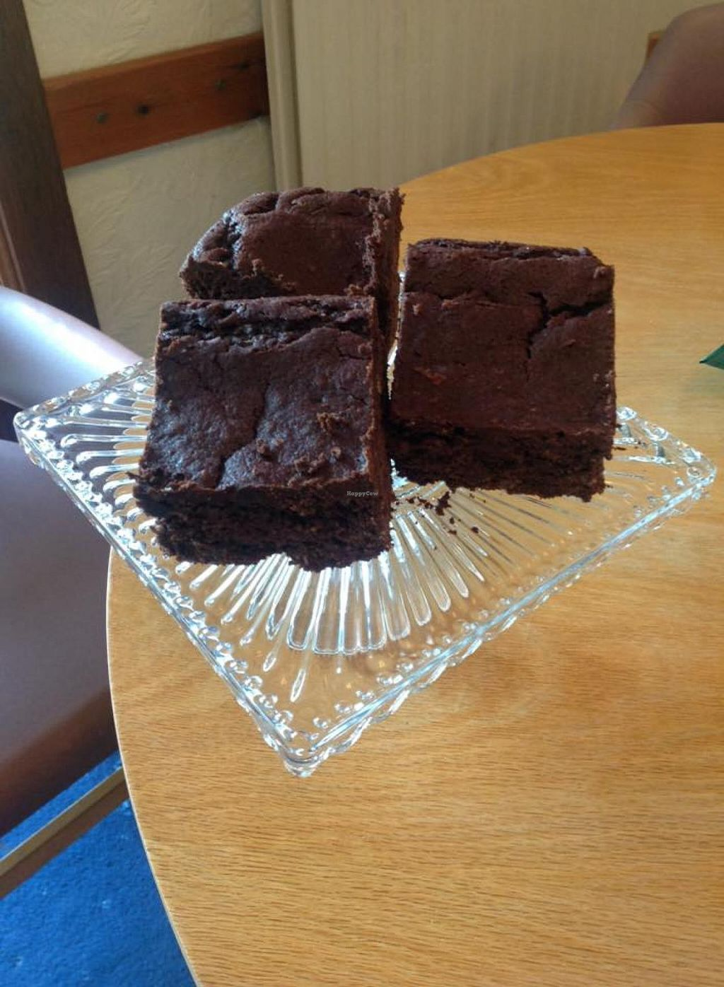 """Photo of CLOSED: The Green Tea Room  by <a href=""""/members/profile/Stevie"""">Stevie</a> <br/>Vegan chocolate brownies <br/> July 23, 2015  - <a href='/contact/abuse/image/5429/110631'>Report</a>"""