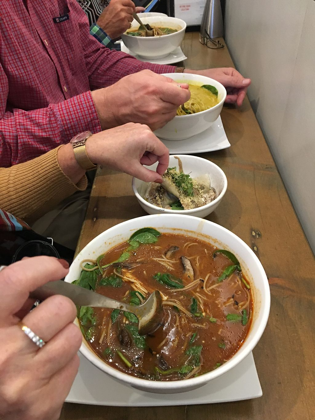 """Photo of Beyond Sushi - Midtown West  by <a href=""""/members/profile/Thepennsyltuckyvegan"""">Thepennsyltuckyvegan</a> <br/>Soups <br/> October 17, 2017  - <a href='/contact/abuse/image/54327/315994'>Report</a>"""
