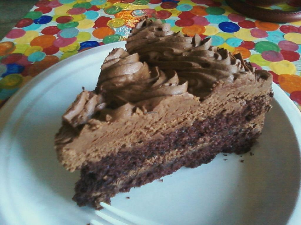 """Photo of Govinda's Cafe  by <a href=""""/members/profile/AmberLovesFruit"""">AmberLovesFruit</a> <br/>Chocolate Cake! <br/> June 30, 2015  - <a href='/contact/abuse/image/54335/107786'>Report</a>"""