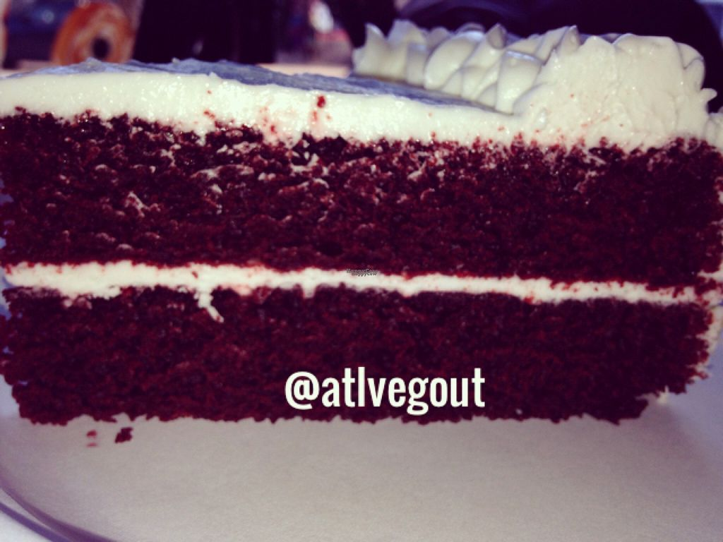 """Photo of Govinda's Cafe  by <a href=""""/members/profile/calamaestra"""">calamaestra</a> <br/>vegan red velvet cake  <br/> October 31, 2016  - <a href='/contact/abuse/image/54335/185584'>Report</a>"""