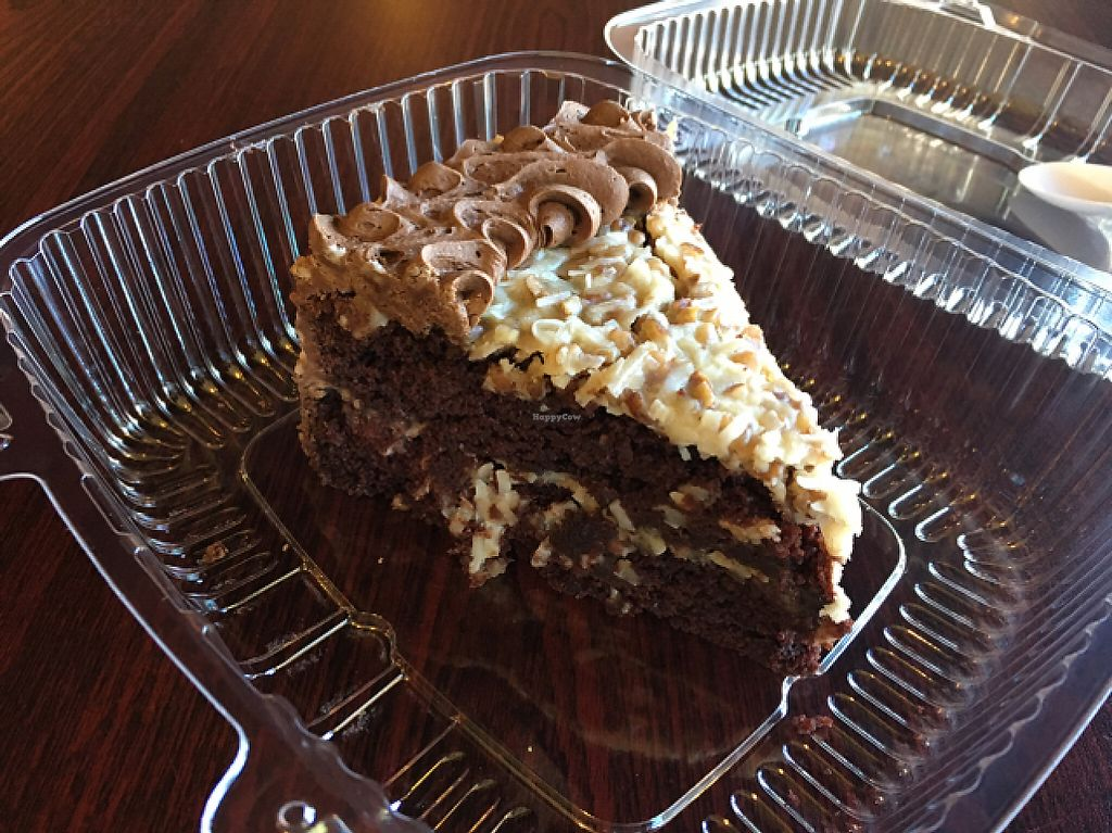 """Photo of Govinda's Cafe  by <a href=""""/members/profile/monisonfire"""">monisonfire</a> <br/>german chocolate cake  <br/> May 1, 2017  - <a href='/contact/abuse/image/54335/254758'>Report</a>"""
