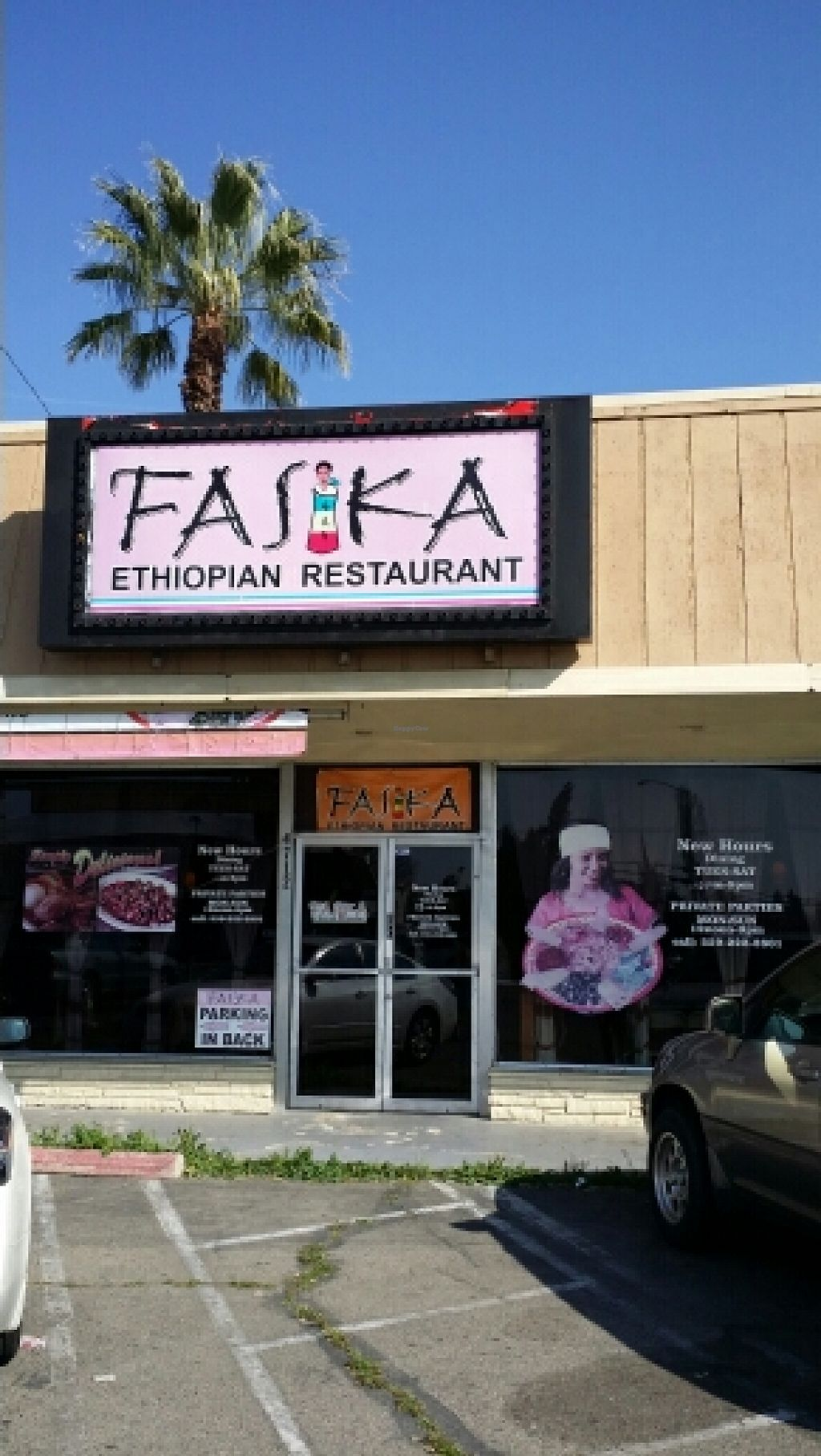 """Photo of Fasika Ethiopian Restaurant  by <a href=""""/members/profile/catbone"""">catbone</a> <br/>Storefront  <br/> March 16, 2016  - <a href='/contact/abuse/image/54385/140179'>Report</a>"""