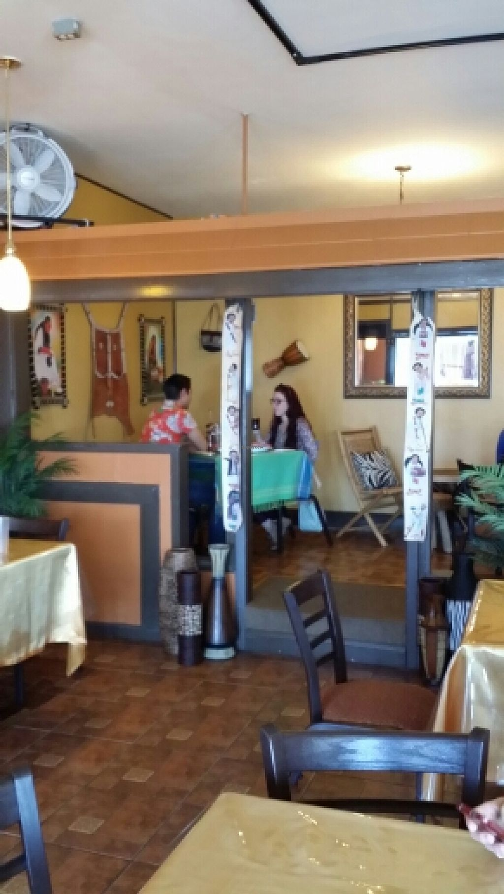 """Photo of Fasika Ethiopian Restaurant  by <a href=""""/members/profile/catbone"""">catbone</a> <br/>Quaint, semi-private platform seating <br/> March 16, 2016  - <a href='/contact/abuse/image/54385/140182'>Report</a>"""