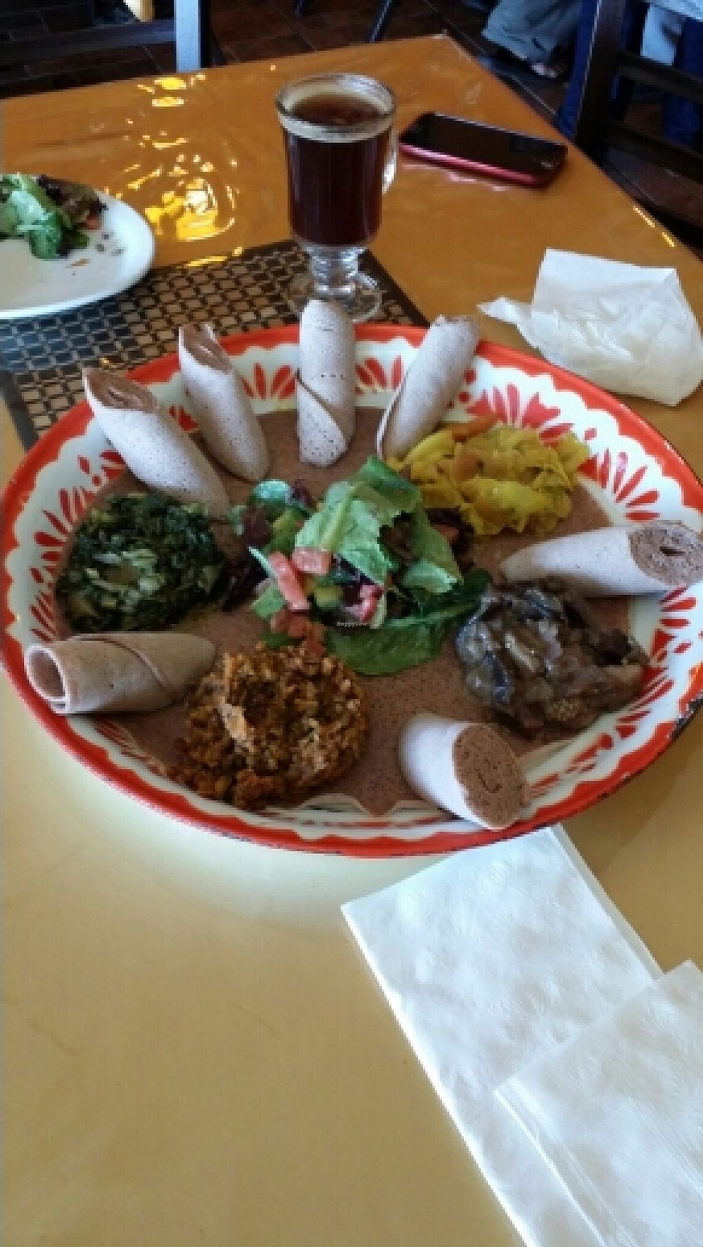 """Photo of Fasika Ethiopian Restaurant  by <a href=""""/members/profile/catbone"""">catbone</a> <br/>Our amazing Ethiopian & Kenyan Combo! <br/> March 16, 2016  - <a href='/contact/abuse/image/54385/140184'>Report</a>"""