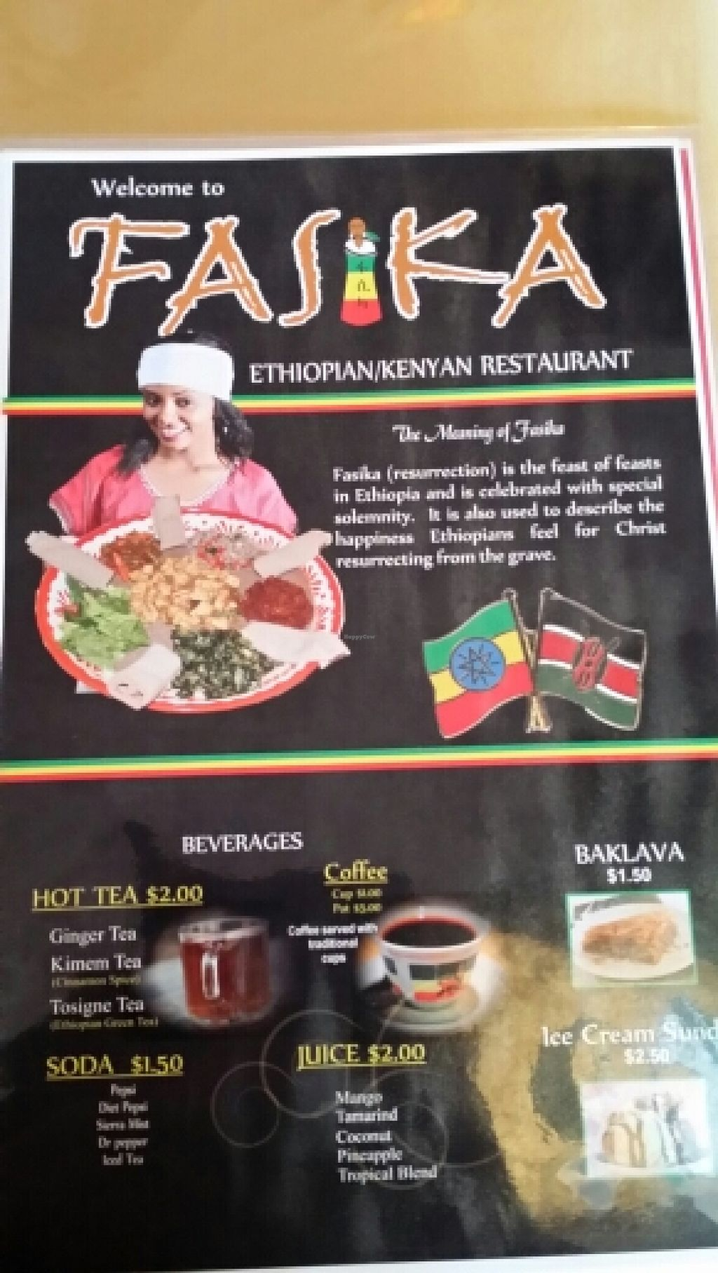 """Photo of Fasika Ethiopian Restaurant  by <a href=""""/members/profile/catbone"""">catbone</a> <br/>The meaning of their name, Fasika <br/> March 16, 2016  - <a href='/contact/abuse/image/54385/140185'>Report</a>"""