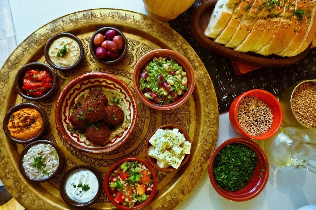 """Photo of Baba Ghanoush  by <a href=""""/members/profile/LindaNimani"""">LindaNimani</a> <br/>The meze mix  <br/> July 30, 2016  - <a href='/contact/abuse/image/54396/163450'>Report</a>"""