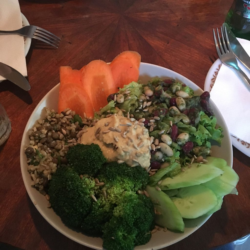 """Photo of Baba Ghanoush  by <a href=""""/members/profile/KelseyHudspeth"""">KelseyHudspeth</a> <br/>vegan bowl, so good! <br/> May 29, 2017  - <a href='/contact/abuse/image/54396/263971'>Report</a>"""