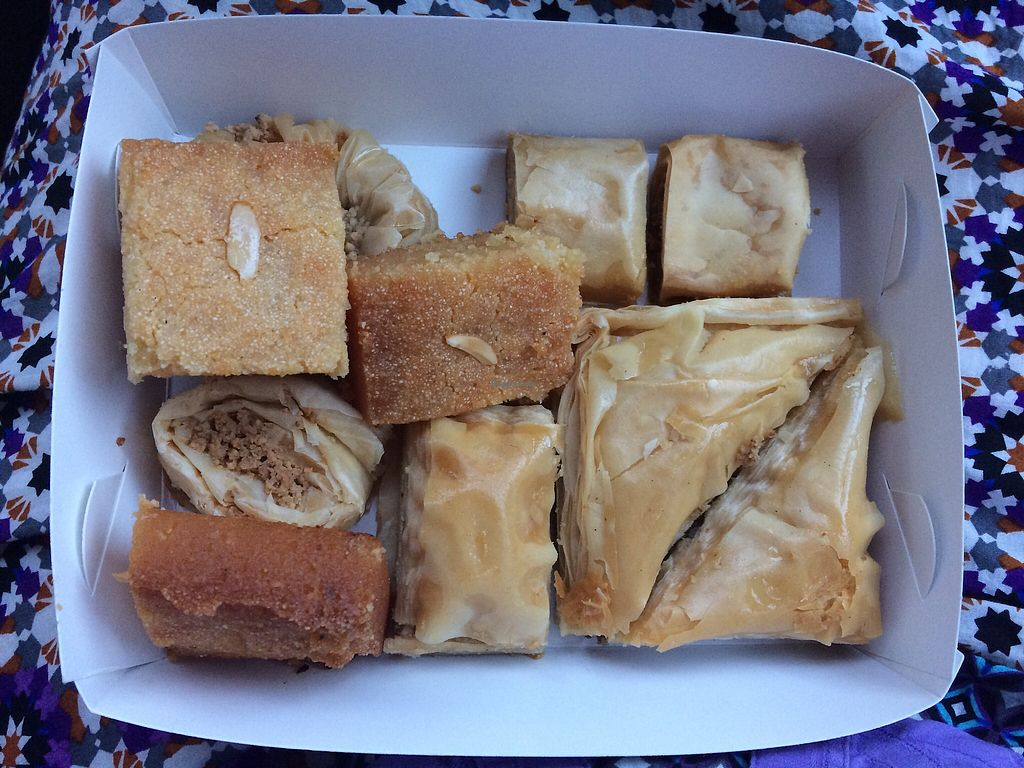 "Photo of Al Nada Sweets  by <a href=""/members/profile/NDVegan"">NDVegan</a> <br/>Snack Pack $12 for 10 pieces <br/> November 28, 2017  - <a href='/contact/abuse/image/54406/329991'>Report</a>"