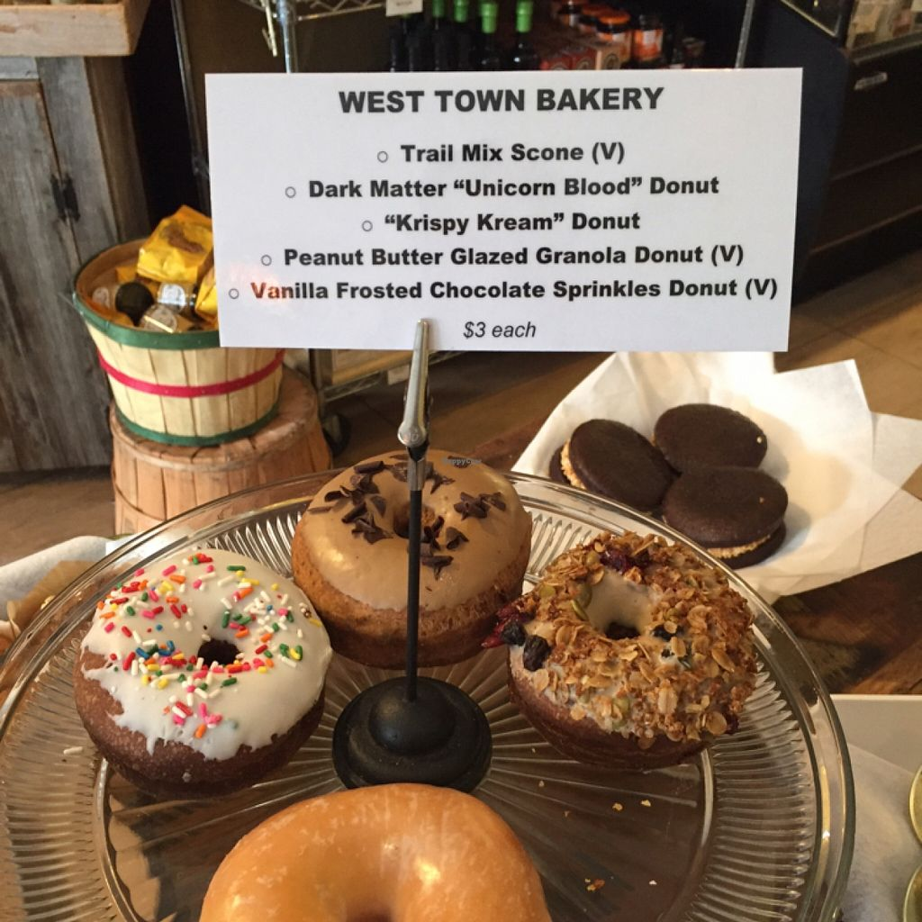 """Photo of River Valley Farmer's Table  by <a href=""""/members/profile/happycowgirl"""">happycowgirl</a> <br/>vegan donuts! <br/> January 20, 2016  - <a href='/contact/abuse/image/54441/133098'>Report</a>"""