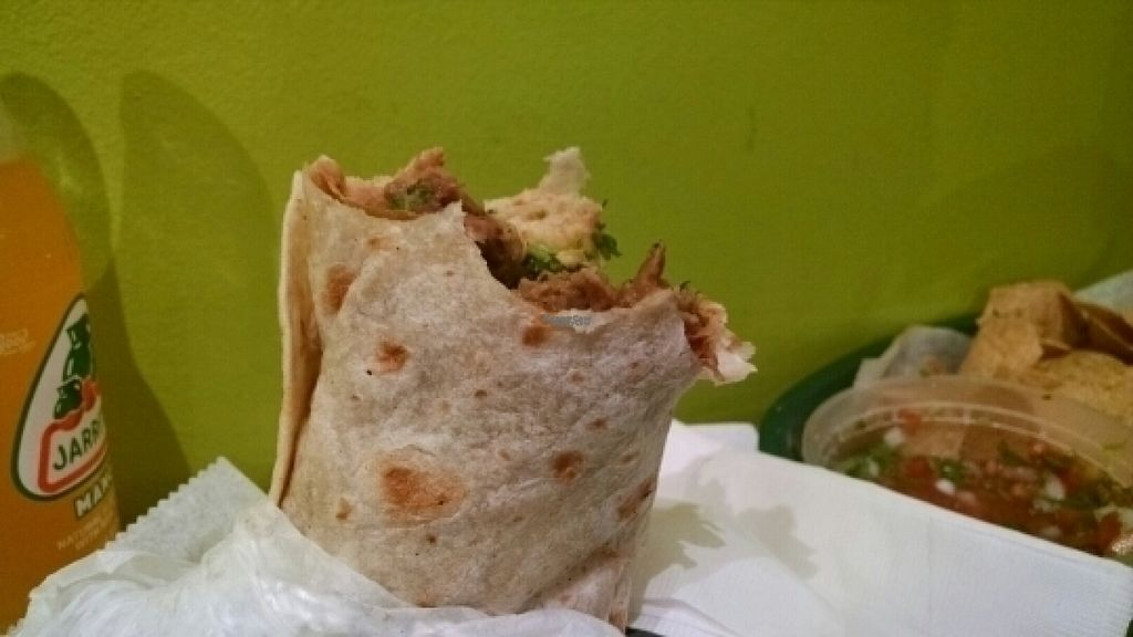 """Photo of Salsita  by <a href=""""/members/profile/GreenEyedMoFo"""">GreenEyedMoFo</a> <br/>Beef Seitan Burrito <br/> August 2, 2016  - <a href='/contact/abuse/image/54461/164411'>Report</a>"""