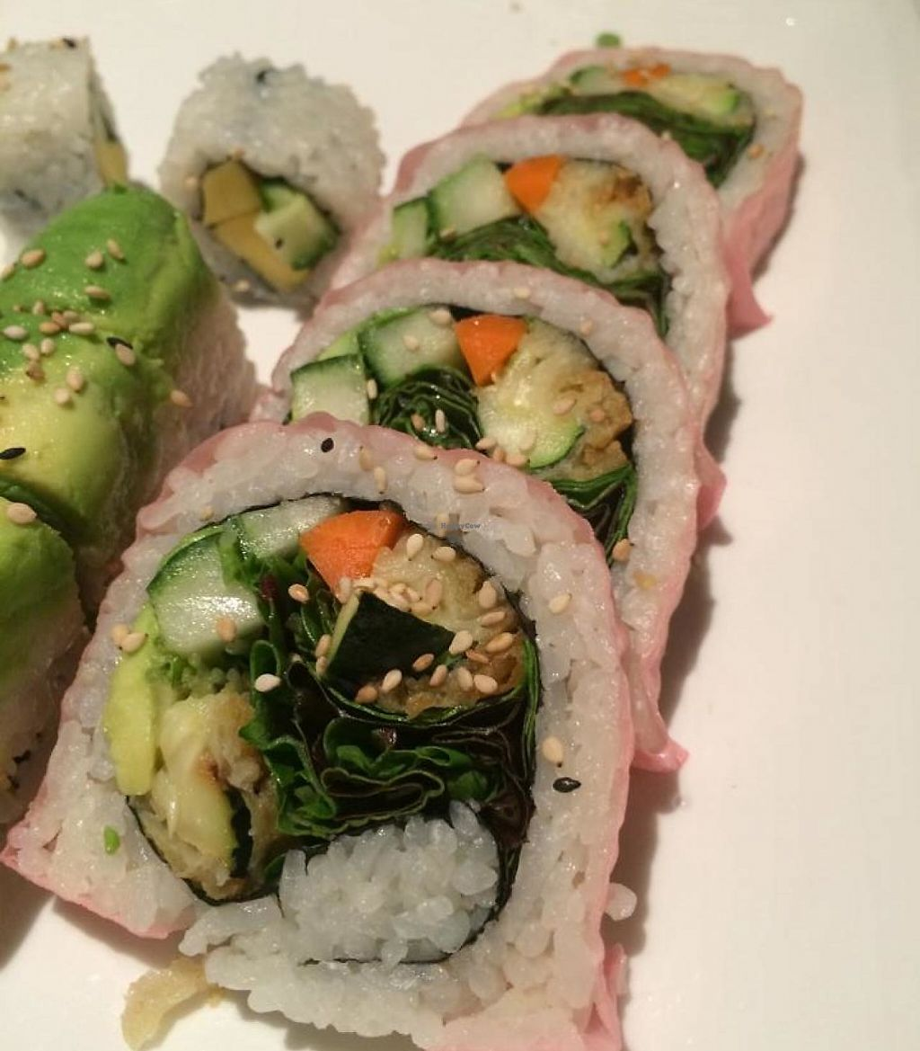 """Photo of Happy Sushi  by <a href=""""/members/profile/Meggie%20and%20Ben"""">Meggie and Ben</a> <br/>Vegetarian roll <br/> January 8, 2015  - <a href='/contact/abuse/image/54493/230453'>Report</a>"""