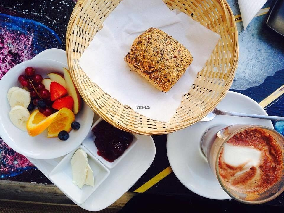 """Photo of Valladares  by <a href=""""/members/profile/Kyttiara"""">Kyttiara</a> <br/>Small breakfast with vegan butter, jam and fruits + one small bread <br/> September 28, 2016  - <a href='/contact/abuse/image/54507/178301'>Report</a>"""