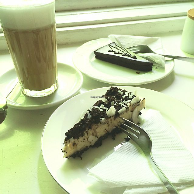 """Photo of Cafe Freudberg  by <a href=""""/members/profile/Marieanne"""">Marieanne</a> <br/>chocolat tarte and oreo cake <br/> June 30, 2017  - <a href='/contact/abuse/image/54510/275043'>Report</a>"""