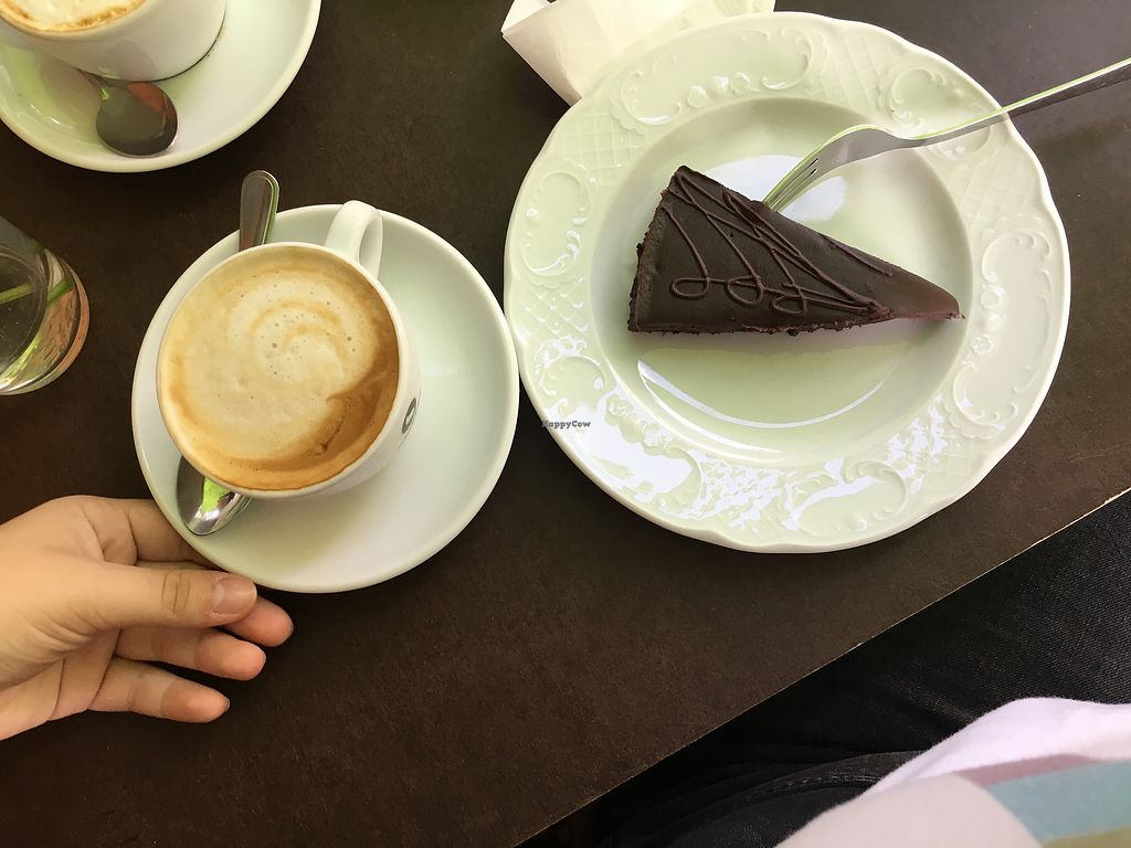 """Photo of Cafe Freudberg  by <a href=""""/members/profile/sjxholm"""">sjxholm</a> <br/>brownie & cappuccino  <br/> August 4, 2017  - <a href='/contact/abuse/image/54510/288640'>Report</a>"""
