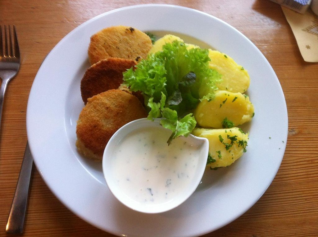 "Photo of Berghotel Grosser Winterberg  by <a href=""/members/profile/J-Veg"">J-Veg</a> <br/>Vegan celeriac schnitzel <br/> January 12, 2015  - <a href='/contact/abuse/image/54532/90175'>Report</a>"