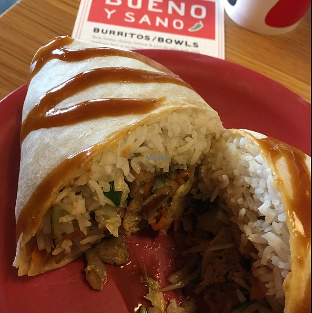 """Photo of Bueno Y Sano  by <a href=""""/members/profile/sugarshock"""">sugarshock</a> <br/>East Meets West Burrito <br/> October 9, 2016  - <a href='/contact/abuse/image/54544/180817'>Report</a>"""