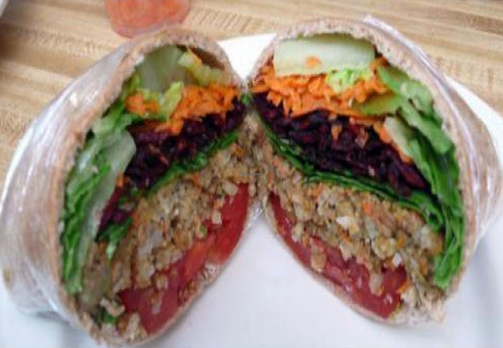 "Photo of Beehive  by <a href=""/members/profile/quarrygirl"">quarrygirl</a> <br/>rainforest burger: vegan burger in pita bread with lettuce, carrots, beats spinach and tomato <br/> December 4, 2011  - <a href='/contact/abuse/image/5454/189242'>Report</a>"