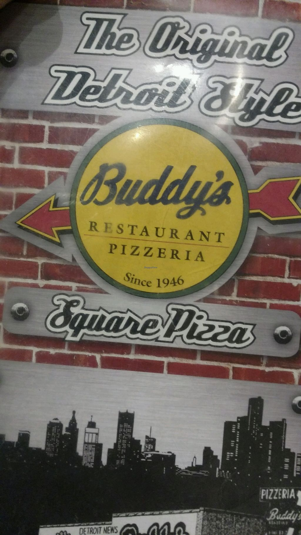 "Photo of Buddy's Pizzeria  by <a href=""/members/profile/Queensnake88"">Queensnake88</a> <br/>menu front <br/> February 24, 2018  - <a href='/contact/abuse/image/54577/363016'>Report</a>"