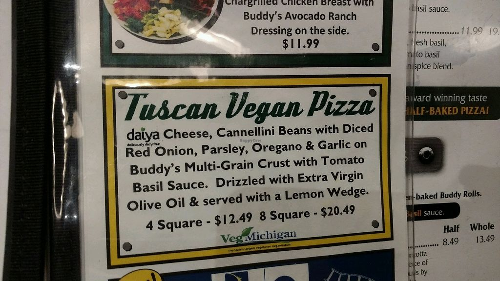 "Photo of Buddy's Pizzeria  by <a href=""/members/profile/Queensnake88"">Queensnake88</a> <br/>vegan pizza description <br/> February 24, 2018  - <a href='/contact/abuse/image/54577/363017'>Report</a>"