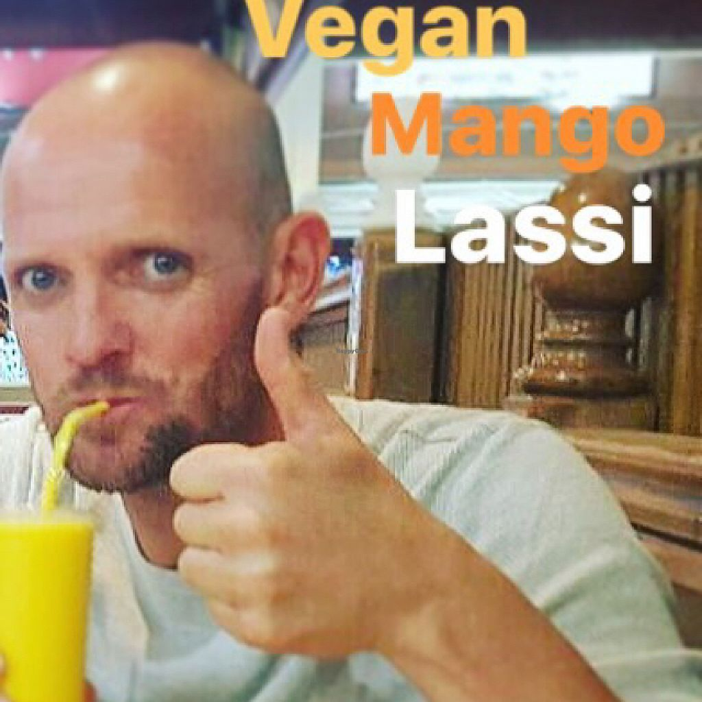 """Photo of Maharaja Palace Indian Tandoori Restaurant  by <a href=""""/members/profile/DirkjanJansen"""">DirkjanJansen</a> <br/>My first ever vegan mango lassi! They made it with soy yoghurt especially for me. It was super delicious! Thanks to Asha and Moti for taking so good care of us. Our freedom starts here! Off we go!!!!!! #tropicallazona #freedom #whatveganseat #crueltyfree #happy #healthy #compassion #vegan #vegano #veganism #veggies #vegansofig #lifestyle #countyourblessings #bijdejongensoptzand #letfoodbeyourmedicine #love #passion #singer #gay #vegayn #entertainer #gaysinger #gaysofinstagram #gaylove #dinerchantant #gaypride #gaypride2017 #maspalomas #playadelingles <br/> May 8, 2017  - <a href='/contact/abuse/image/54594/257132'>Report</a>"""