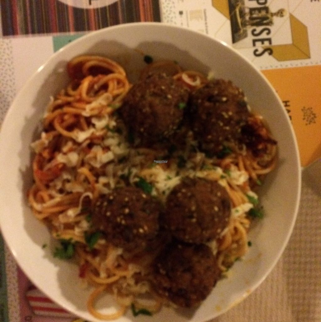 """Photo of Mezzaluna  by <a href=""""/members/profile/OliviaDunn"""">OliviaDunn</a> <br/>The spaghetti and """"meat"""" balls <br/> March 8, 2017  - <a href='/contact/abuse/image/54608/234307'>Report</a>"""