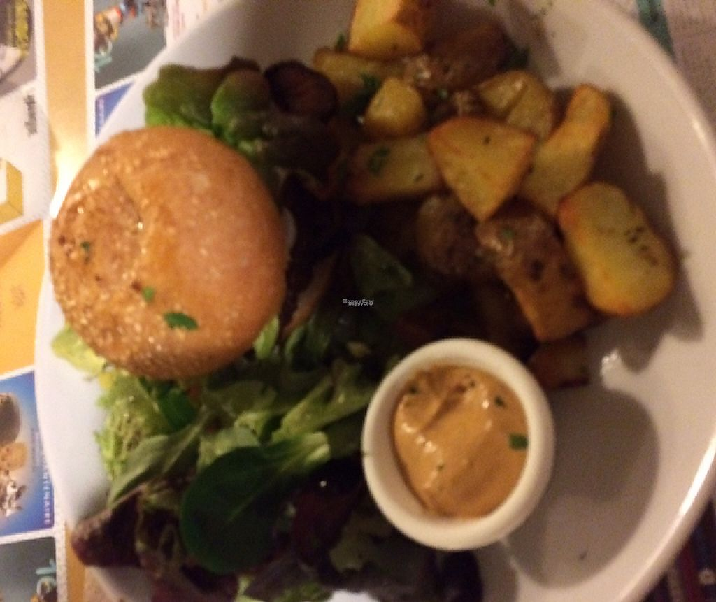 """Photo of Mezzaluna  by <a href=""""/members/profile/OliviaDunn"""">OliviaDunn</a> <br/>The lentil burger <br/> March 8, 2017  - <a href='/contact/abuse/image/54608/234308'>Report</a>"""