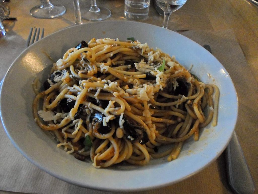 """Photo of Mezzaluna  by <a href=""""/members/profile/Wehna"""">Wehna</a> <br/>Pasta with aubergines <br/> March 2, 2015  - <a href='/contact/abuse/image/54608/94574'>Report</a>"""