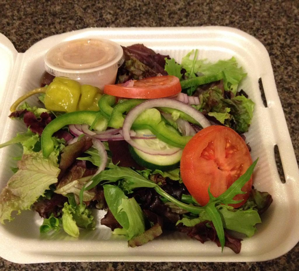 "Photo of Pita Cafe  by <a href=""/members/profile/Tigra220"">Tigra220</a> <br/>Greek Salad (sans feta) <br/> January 12, 2015  - <a href='/contact/abuse/image/54655/90262'>Report</a>"